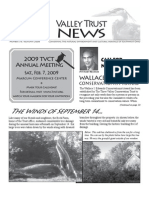 Fall 2008 Valley Trust Newsletter, Three Valley Conservation Trust