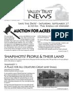 Summer 2008 Valley Trust Newsletter, Three Valley Conservation Trust