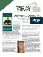 Fall 2009 Valley Trust Newsletter, Three Valley Conservation Trust