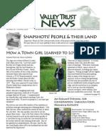 Summer 2009 Valley Trust Newsletter, Three Valley Conservation Trust