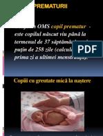 prematurii  + intr