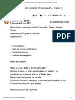 (1) Como Hacer Cocada de Leite Condesado -YouTube