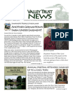 Spring 2010 Valley Trust Newsletter, Three Valley Conservation Trust