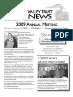 Winter 2010 Valley Trust Newsletter, Three Valley Conservation Trust
