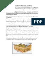 Magmatismo y Minerales en El Peru
