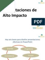 Presentación de Alto Impacto Formato Bioincuba