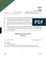 198 Shorthand (English) Theory