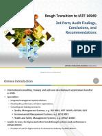 Rough Transition to IATF 16949 Presentation for Customers-estadistica