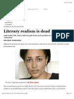 Literary Realism is Dead - Salon.com