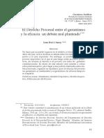 El Derecho Procesal entre el garantismo.pdf