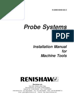 Renishaw -installation Manual for Machine Tools   Computer