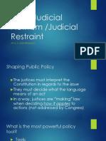 Judicial Activism Judicial Restraint Notes