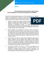 Pronunciamiento UNICEF Cunas Salvadoras PER