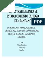 William Jones Una Estrategia Para El Establecimiento Exitoso de Arandano