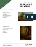 Sotheby's -- Berkshire Museum Checklist