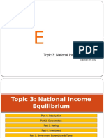 Topic 3 National Income Equilibrium