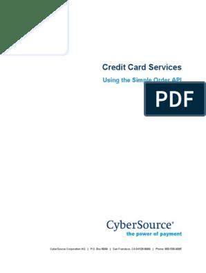 Credit Cards SO API   Credit Card   Debit Card