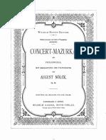 Nölck, August - Concert Mazurka, Op.86 (pf score)