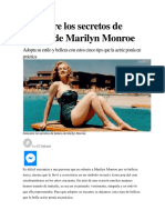 Descubre Los Secretos de Belleza de Marilyn Monroe