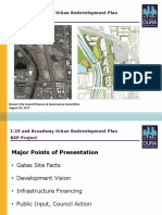 Interstate 25 and Broadway Urban Redevelopment Plan BSP Project