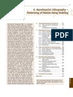 Nanoimprint Lithography – Patterning of Resists Using Molding