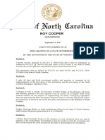 North Carolina State of Emergency