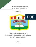 Plan de Contigencia 2016, Ante Sismo