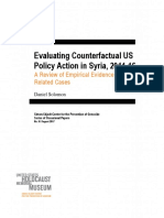 Evaluating Counterfactual US Policy Action in Syria, 2011-16