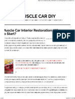 Muscle Car Interior Restoration_ Where to Start