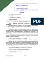 Ley_30367 Prorroga Licencia Maternidad 25 Noviembre 2015