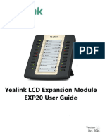 Yealink EXP20 User Guide V1.1