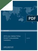 2016 Lowy Institute Polling Donald Trump Polarises Australians