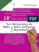 18 Concurso Nacional 2017 Las Narraciones de Niñas y Niños Indígenas y Migrantes