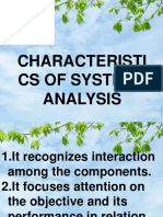 Characteristics of Systems Analysis