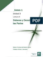 Lectura 9 - Derechos y Deberes de las Partes.pdf