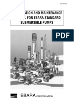 Installation and Maintenance Manual (Ebara Submersible Pump)