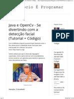 Java Open Cv