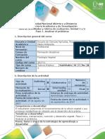 Guía de Actividades y Rúbrica de Evaluación - Paso 1 - Analizar El Problema