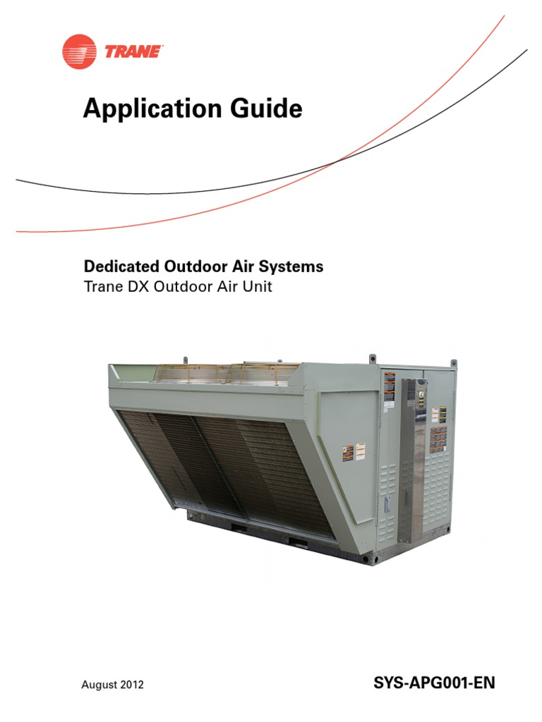 Sys Apg001 En 08 03 2012 Dedicated Outdoor Air Systems Trane Dx