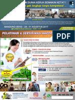 Pelatihan & Sertifikasi Haccp Bnsp - Bandung 2017