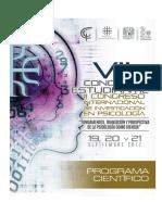 Programa Científico VII Congreso Estudiantil y II Congreso Internacional