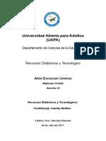 1ra Tarea de Recursos Didacticos y Tecnologicos