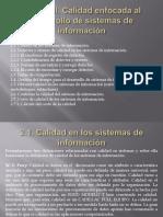 Unidad II Calidad Enfocada Al Desarrollo de Sistemas de Informacion