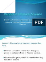 Report in Physical Science
