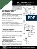 Howard Miller Clock Manual