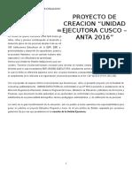 Proyecto Creacion Unidad Ejecutora Anta