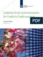 Position Paper Usability of Life Cycle Assessment for Cradle to Cradle Purposes W
