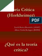 Teoría Crítica (Horkheimer)