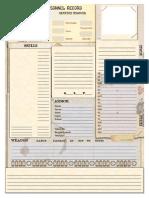 SUPER NOIR WW1 Character Sheet
