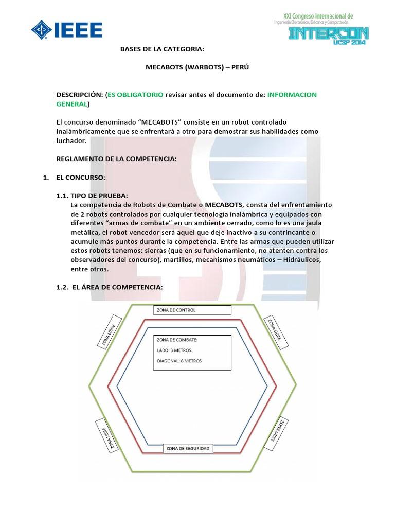 Ucsp Bases de La Categoria Mecabots v1